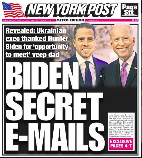 Biden'ın oğlunun Ukrayna mail'leri ifşa oldu, Twitter ve Facebook haberlere erişimi kısıtladı - serbestiyet.com