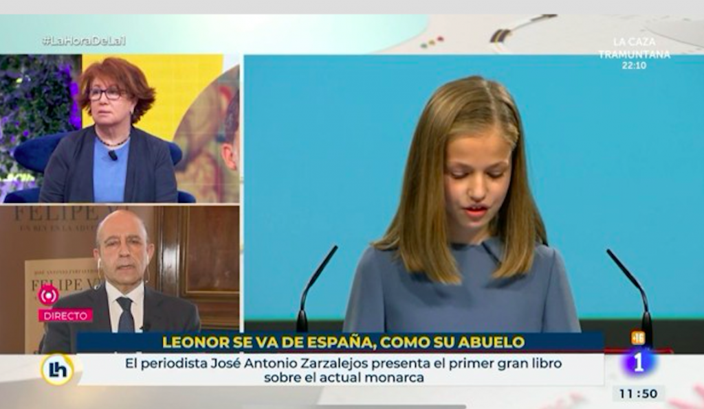 RTVE regrets 'Leonor leaving Spain, like her grandfather' headline - for  new school in Wales - Spain in English