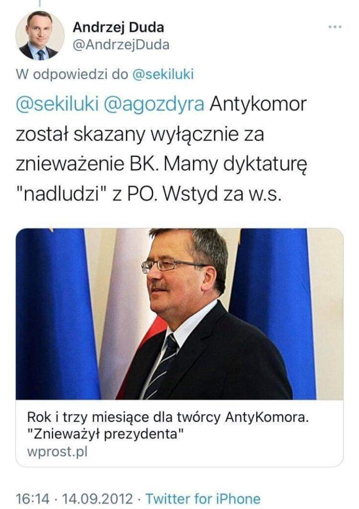 bagpipes about Komorowski